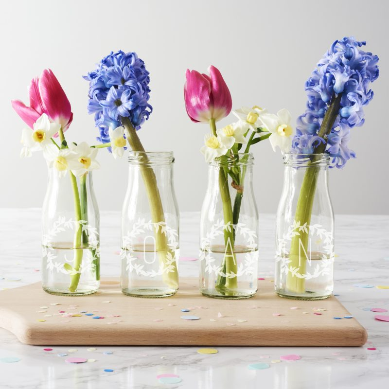 20c74aa37e7 Personalised Name Bottle Bud Vases - Becky Broome Becky Broome