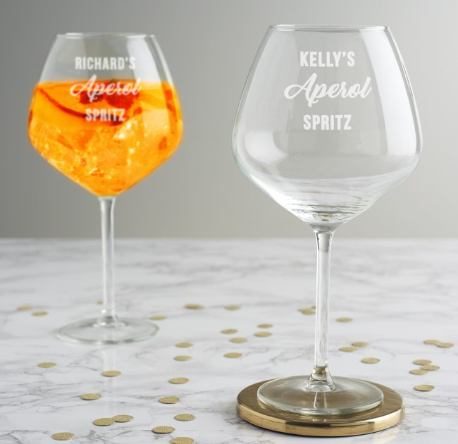 Personalised Aperol Spritz Glass