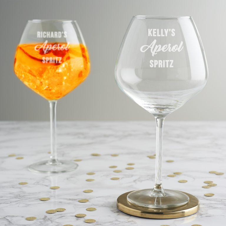 Personalised Aperol Spritz Glass