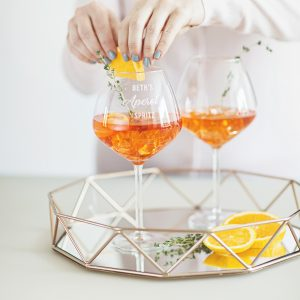 Personalised Aperol Spritz Glass Lifestyle