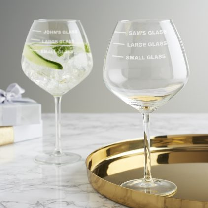 Personalised Drinks Measure Goblet