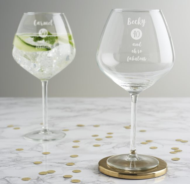 Personalised Milestone Birthday Gin Goblet For Her