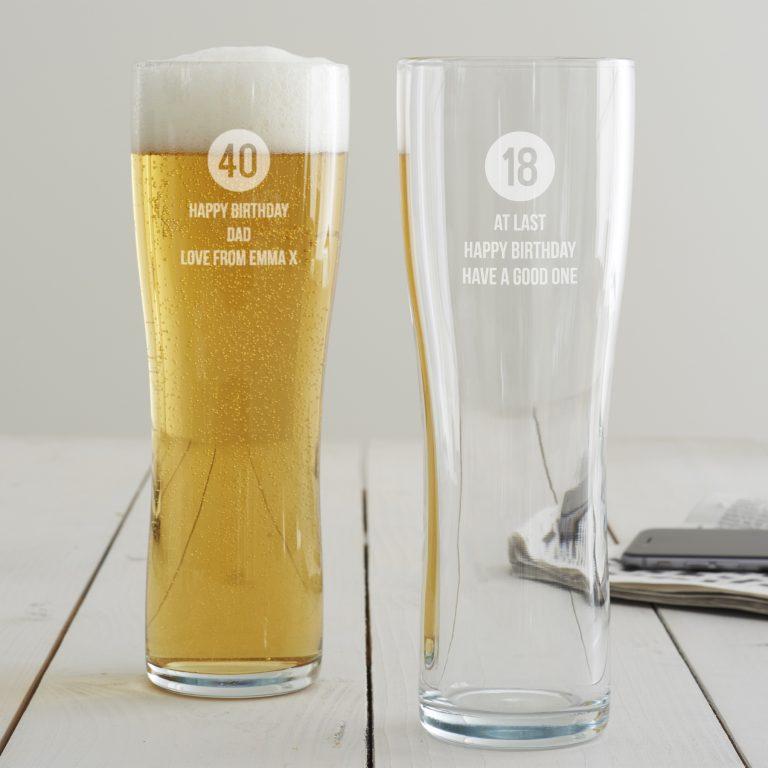 Personalised Milestone Birthday Pint Glass For Him
