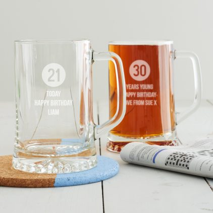 Personalised Milestone Birthday Tankard For Him