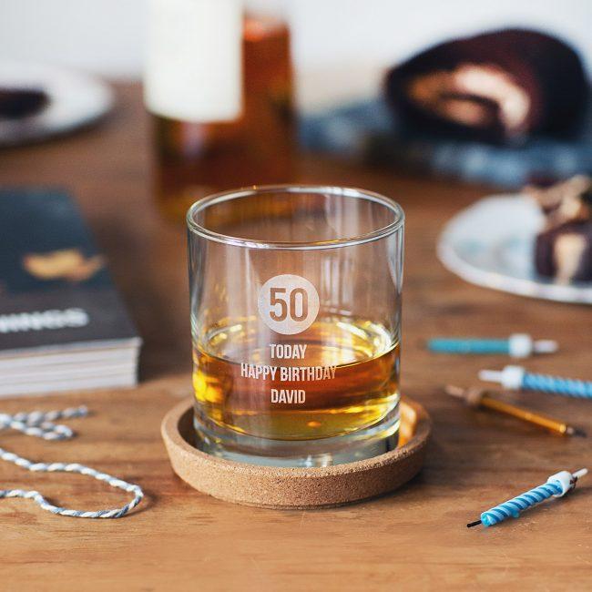 Personalised Milestone Birthday Whisky Glass For Him Lifestyle