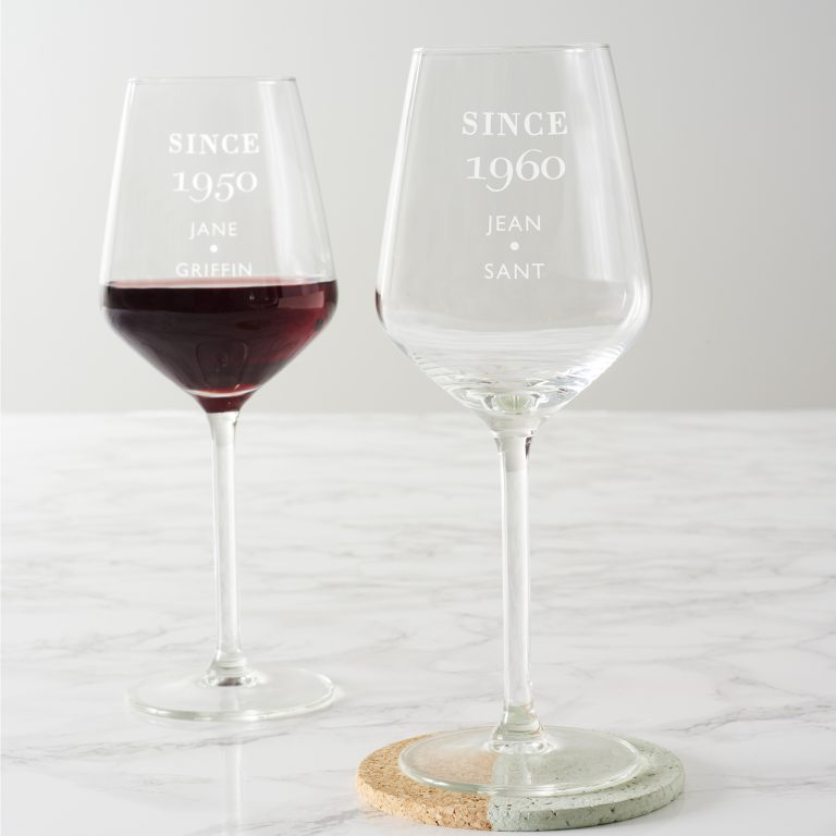 Personalised Since Birthday Wine Glass