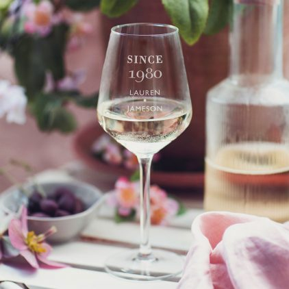 Personalised Since Birthday Wine Glass Lifestyle