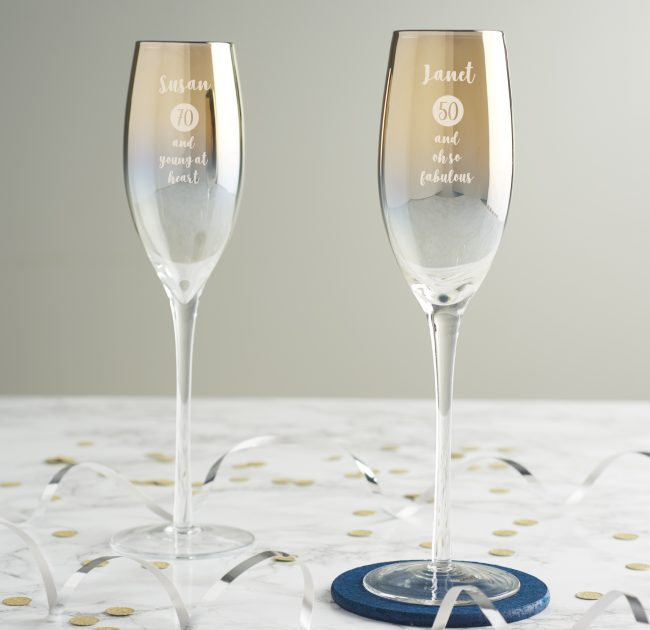 Personalised Milestone Birthday Gold Champagne For Her