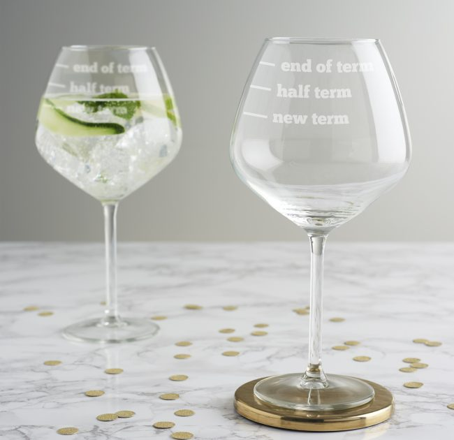 Teachers Gin Glass