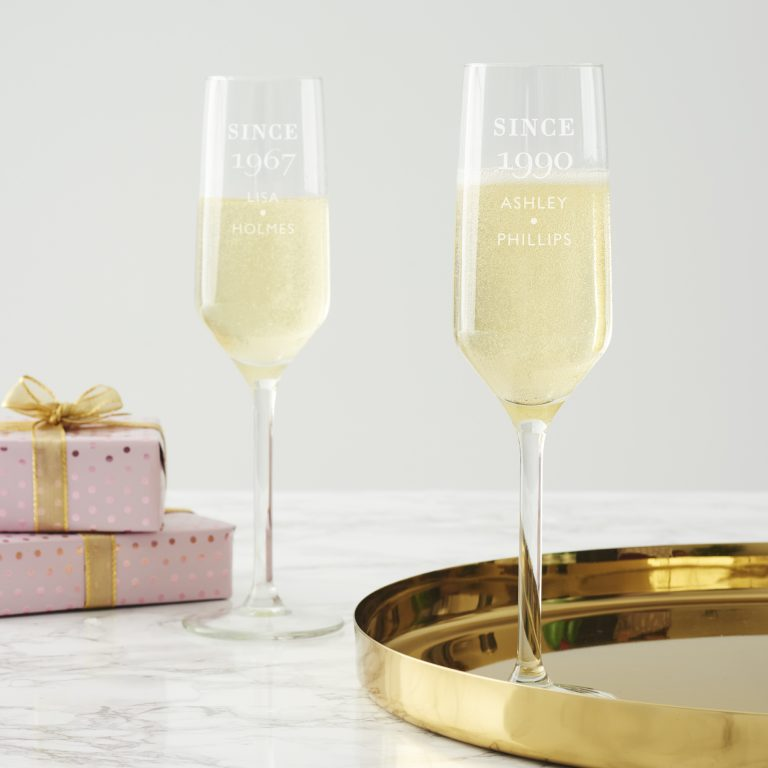 Personlised Since Birthday Champagne Flute