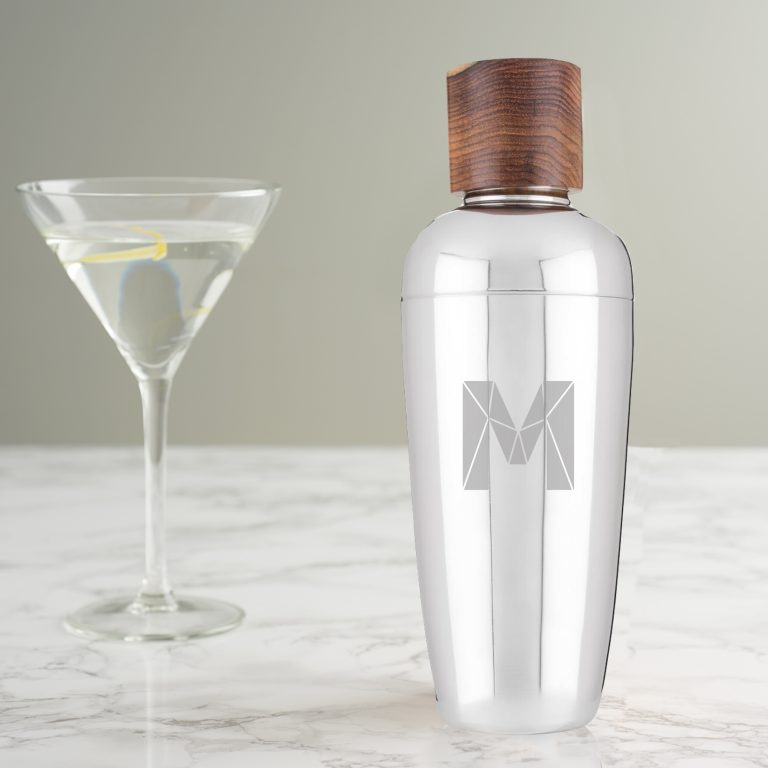 Personalised Faceted Initial Cocktail Shaker