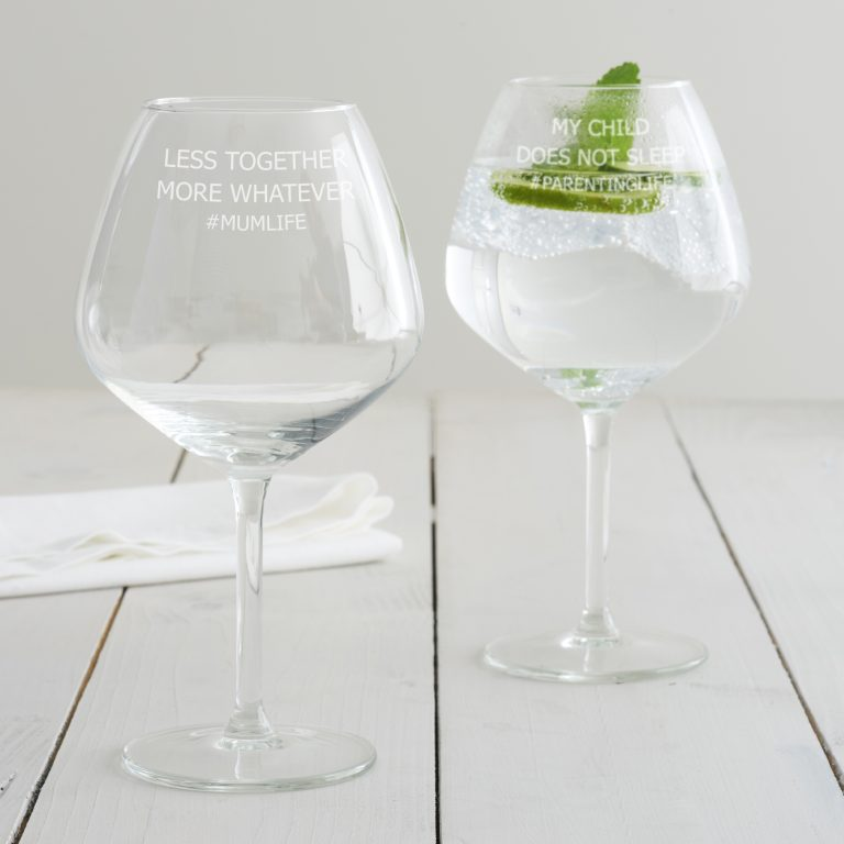 Pers. 'Less Together, More Whatever' Goblet Glass