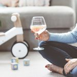 Personalised 'Parenting Life' Goblet Glass Lifestyle