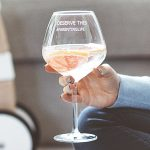 Personalised 'Parenting Life' Goblet Glass Lifestyle Detail