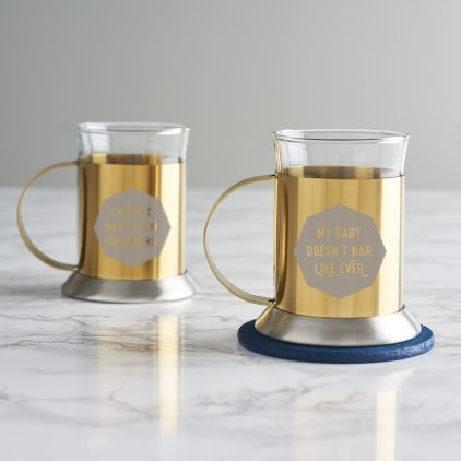 Personalised Gold Mug For New Mum