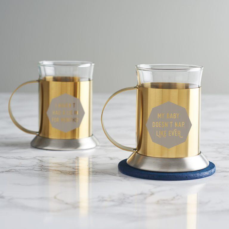 Personalised Gold Mug For New Mum