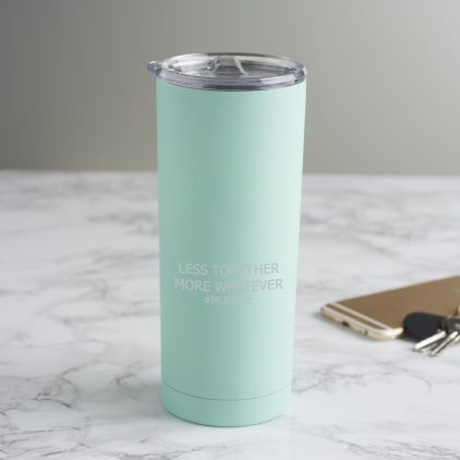 Personalised 'Less Together, More Whatever' Travel Cup