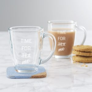 Time For Me Glass Mug For Mum