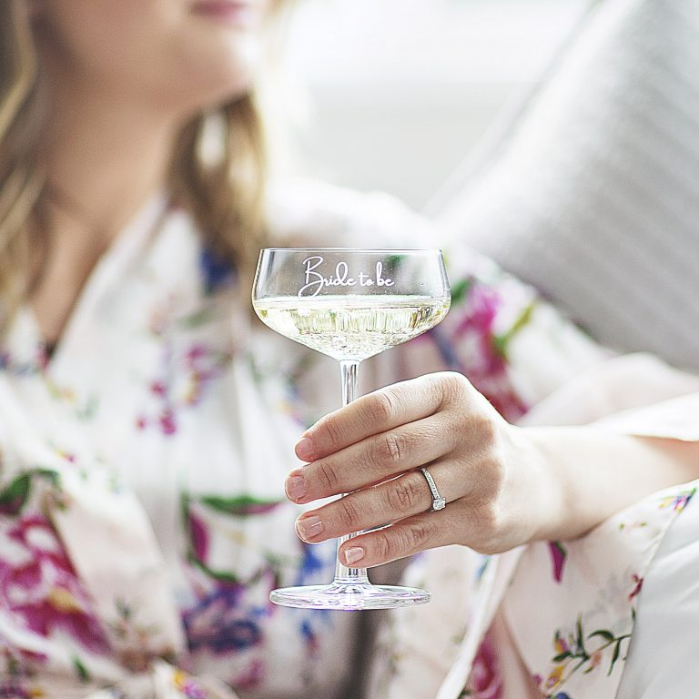 Bride To Be Champagne Glass