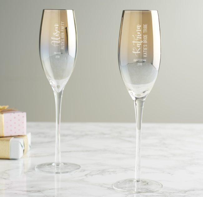 Detailed Hen Metallic Champagne