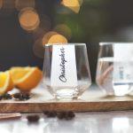 Personalised Hexagonal Tumbler Glass Lifestyle Font Option 2