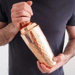 Personalised-Pineapple-Embossed-Copper-Cocktail-Shaker-Model