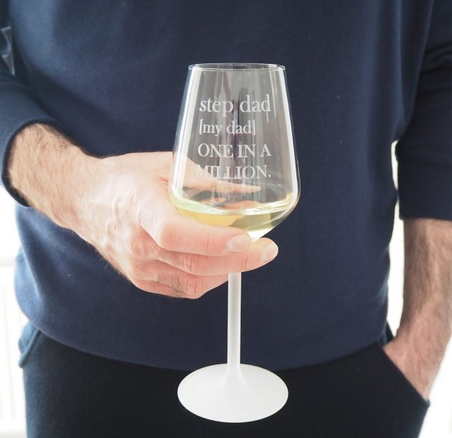 Personalised Wine Glass For Step Dads