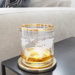 Personalised World Map Gold Banded Tumbler Glass