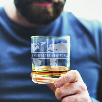 Personalised World Map Whisky Glass