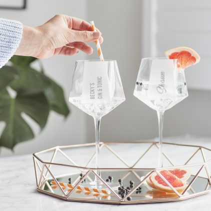 Personalised Hexagonal Gin Goblet Lifestyle