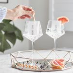 Personalised Hexagonal Gin Goblet Lifestyle Single Line Text