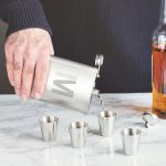 Personalised Initial Hip Flask & Cup Set Lifestyle