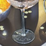 Personalised Scalloped Champagne Coupe Lifestyle Detail