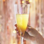 Personalised Swirl Stem Champagne Flute Lifestyle Detail 1