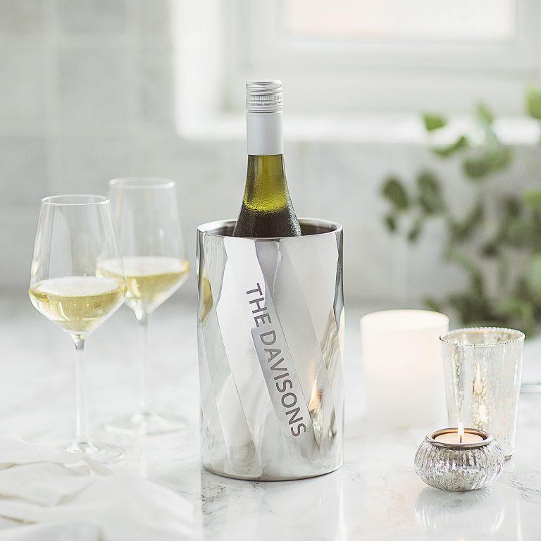 Personalised Swirl Wine Cooler Lifestyle