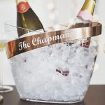 Personalised Copper Banded Champagne Bucket Lifestyle Detail