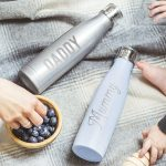 Personalised Name Water Bottle Mum & Dad Lifestyle Detail