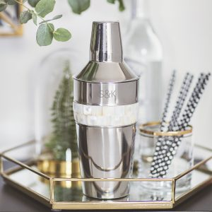 Pers. Mother Of Pearl Cocktail Shaker
