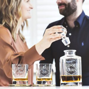 Personalised Couples Decanter And Glass Set For Couples