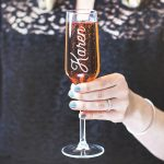 Personalised Name Champagne Flute Lifestyle Detail