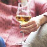 Personalised Name Wine Glass Lifestyle Detail