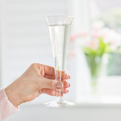 Personalised Tall Champagne Flute Lifestyle