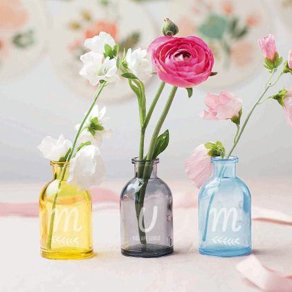 Coloured Mum Vases