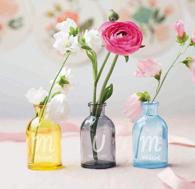 Coloured Mum Vases