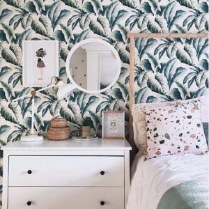 Life at Number 63 Spring Refresh Leaf Bedroom Inspiration