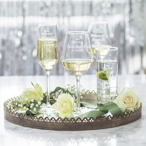 Personalised Be My Wedding Glass For Her Group