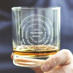 Personalised Memories Glass For Dad Detail
