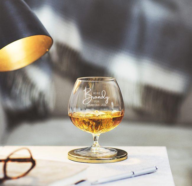 Personalised 'More Brandy' Crystal Brandy Glass