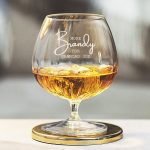 Personalised 'More Brandy' Crystal Brandy Glass Detail