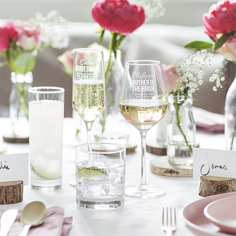 Personalised Original Wedding Glass For Her Group